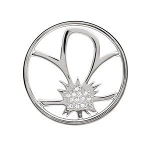 Origami Owl 💛 LARGE SILVER FLOWER WINDOW PLATE